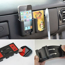 Car Sticky Bracket Phone Card Holder Adjustable Sliding For Pen Accessories Chic