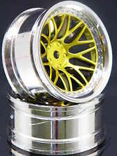 2ER PACK RC-CAR FELGEN 1:10 BBS STYLE IN CHROM/GOLD MIT 9MM OFFSET # FBBCG9