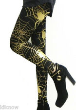 Womens - Spiders Web (Gold) - Leggings