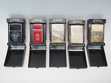 LOT OF 5 ZIPPO LIGHTERS - SAN FRANCISCO INDIANAPOLIS SPEEDWAY STATUE OF LIBERTY