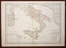 carte geographique de l'ITALIE DU SUD ROYAUME DES DEUX SICILES SARDAIGNE 1832