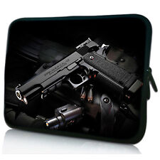 "17"" 17.3"" Cool Gun Laptop Sleeve Bag Case Cover For HP ENVY Dell XPS Acer ASUS"