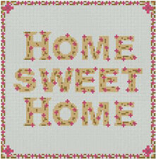 "Home Sweet Home Pink Counted Cross Stitch Kit 8"" x 8"" 20cm x 20cm S2206"