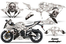 Amr Racing Graphic Kit Kawasaki ZX6-R 636 Ninja Street Bike Decals 13-14 BONE WH