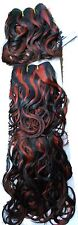 OFF BLACK  RED brown short 100% human weave hair S body curl curly extension