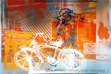 Robert Rauschenberg - Bicycle, 1991 National Gallery - Foil ART PRINT