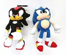 "Sega 8"" Sonic & Shadow Plush Doll Keyring/Keychain Coin Bag Clip"