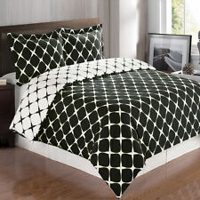 Reversible Bloomingdale Duvet Cover Set,100% Egyptian Cotton Elegant Bedding