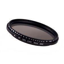 Aplicado 58mm Fader Variable ND filtro Ajustable ND2 a ND400 Neutral Densidad