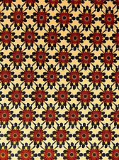 African  Print Block Wax Cotton Fabric - Sold By The Yard