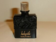LALIQUE VINTAGE HABANITA DE MOLINARD EMPTY BLACK GLASS BOTTLE 7.5 ml