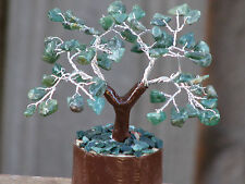 Small Green Aventurine Bonsai Crystal Gemstone Tree - Green Crystal Chips