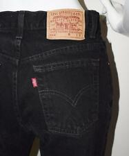 Vtg 90s Black Levi's 512 High Waist Slim Fit Straigh Leg Cropped Jeans 27 x 28