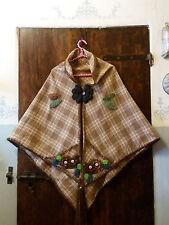 Mantella fiori uncinetto, crochet, fatto a mano,Regalo Natale,scialle