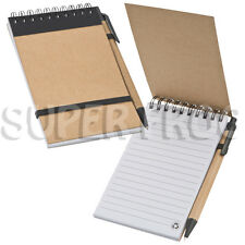 Paper Eco Lined Notebook And Ball Pen Notepad Writing Pad Ruled Hardback Notes