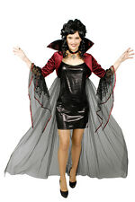 Shawl Bolero Witch Vampire Gothic,Lace Stand up collar + Cross black red Ladies