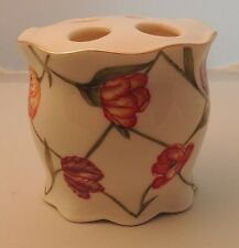 Croscill Tooth Brush Holder with Tag Floral Design!