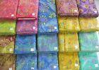 """DREAMCATCHER BATIKS 100% cotton fabric flavor of India swirls florals 1 yd x 44"""""""