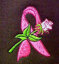 Breast Cancer M Sweatshirt Pink Ribbon Rose Brown Crew Neck Awareness New
