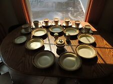 Set of Mikasa Whole Wheat bowls cups and saucers