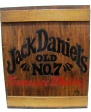 Jack Daniel's Whiskey Wood Cabinet Display Case Shot Glass,Glasses Man Cave