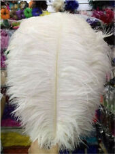 10 pcs Beautiful white ostrich feathers 30-35 cm / 12-14 inch free shipping