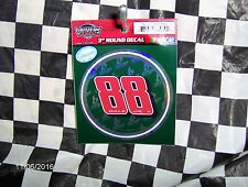 """Dale Earnhardt Jr. # 88  Amp  3"""" Round Decal"""