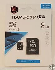 Team 8GB Class 10 Micro SDHC SD Card with adapter