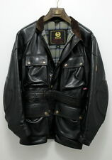 Authentic Belstaff Panther Leather Biker Jacket MADE IN ITALY Coat With BELT