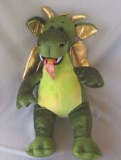 "Build a Bear Enchanted Dragon Plush Fire Breathing Gold Wings 18"" Stuffed Animal"