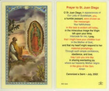 St. Juan Diego Guadalupe Holy Card and Devotional Prayer