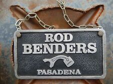 VTG OLD ROD Benders Hot Rod Car Club Plaque Bumper DRAGGER LeadSLED VoodOO RAT
