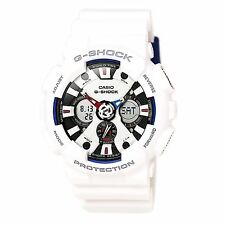 Casio GA120TR-7A Gent's Ana-Digi Dial White Strap Quartz Watch