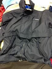 REEBOK COATS ATHELECTIC DEPARTMENT MEDIUMOVER HEAD COAT AT £24 NAVY/BEIGE