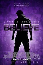 Justin Bieber BELIEVE movie poster (2013)