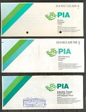 AIRLINES TICKET PAKISTAN INTERNATIONAL PIA EX BAGGAGE INDUST TRAVEL MISC.CHARGES