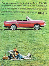 PUBLICITE ADVERTISING 054  1961  RENAULT    les vacances en FLORIDE 2