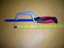 "ALUMINUM CLOSE QUARTER HACKSAW USES 10"" OR 12"" BLADES LARGE CUSHIONED HANDLE"