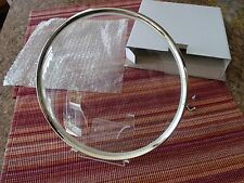 "NOS Convex Clock Glass with Bezel 9 3/16"" Dia. Rear Screw Mount"