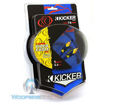 KICKER 05SV1 3.3FT TRUE 75 OHM INTERCONNECT VIDEO CABLE SHIELDED FLEXIBLE RCA