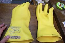 new white rubber glove co class 00 type I yell insulated linesman gloves sz 10