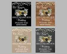 Rustic Instagram Oh Snap Wedding Sign, Customized, Choose your background!