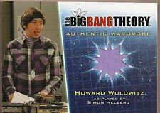 BIG BANG THEORY SEASON 5 SIMON HELBERG HOWARD PURPLE SHIRT WARDROBE CARD M18 NM