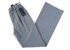 PAUL SMITH GREY WOVEN LINEN/COTTON HIGH WAIST WIDE LEG TROUSERS *IT 38/UK 6* NEW