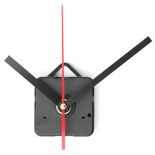 Quartz Wall Clock Movement Mechanism DIY Repair Parts Black & Red Long Shaft