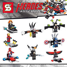 R4404 SUPER HEROES LEGO LIKE MINIFIGURES SY296 LOT OF 8