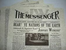 1931 JW Messenger NEW NAME Watchtower I.B.S.A. Jehovah