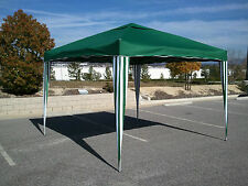 10x10 Pop Up Gazebo Party Tent, Green Awning Portable Foldable Shade Cover