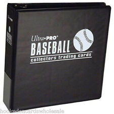 "1 Case of 12 Ultra Pro 3"" Black Baseball Card Collector Albums Binders"