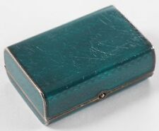 JUVENIA GUILLOCHE ENAMEL STERLING SIVER BOX with WATCH